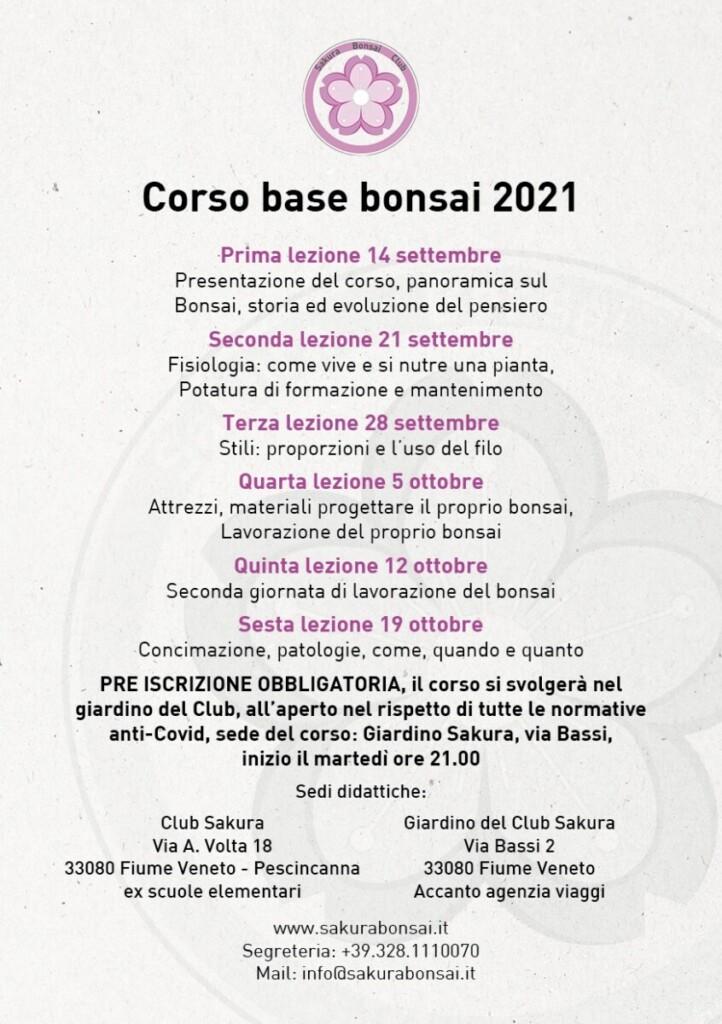 Corso base Bonsai 2021